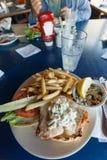 Fried Cod Fish Sandwich Image libre de droits