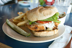 Fried Cod Sandwich Stock Images