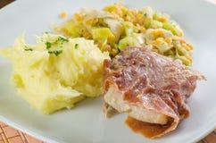 Fried codfish with ham Royalty Free Stock Image