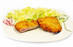 Fried cordon blue Royalty Free Stock Image