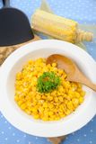 Fried corn Stock Photo
