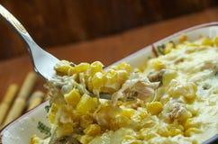 Fried Corn Dip con il pollo Immagini Stock