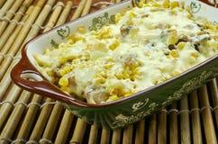 Fried Corn Dip con il pollo Fotografie Stock