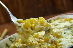 Fried Corn Dip con il pollo Fotografia Stock
