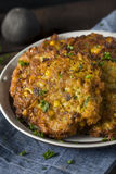 Fried Corn Fritter hecho en casa Foto de archivo libre de regalías