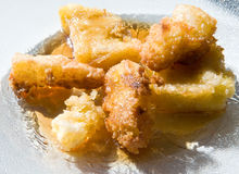 Fried corn meal mush Royalty Free Stock Images