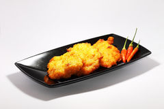 Fried corn. A traditional dish made from corn Stock Photography