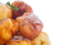 Fried cottage cheese balls Stock Photos