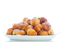 Fried cottage cheese balls Royalty Free Stock Photos