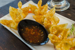 Fried crab and cheese wanton Royalty Free Stock Photos