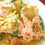 Fried crab with curry powder Royalty Free Stock Image