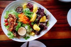 Fried Crab fresh salad Stock Images