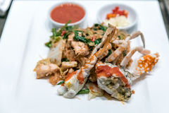 Fried crab noodle Royalty Free Stock Photography