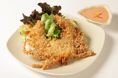 Fried crab salad Royalty Free Stock Images