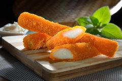 Fried Crab Sticks Royalty Free Stock Images