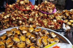 Fried crabs Stock Photo