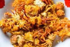 Fried Crabs profundo Imagen de archivo libre de regalías