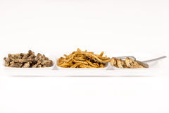 Fried crickets molitors locusts insects Royalty Free Stock Photo