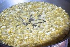 Fried crispy durian Stock Photos