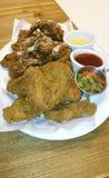 Fried crispy garlic chicken Stock Photos