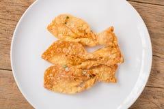 Fried crispy roti make fish shape Royalty Free Stock Image