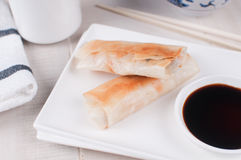 Fried crispy spring rolls Royalty Free Stock Photography