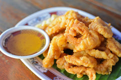 Fried Crispy Squid Stock Image