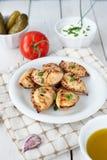 Fried crunchy dumplings for dinner Stock Images