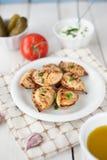 Fried crunchy dumplings for dinner Stock Image