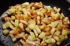 Fried cube potato Royalty Free Stock Photos