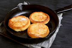Fried curd cheese pancakes Stock Image