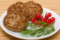 Fried cutlet Royalty Free Stock Images