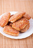 Fried cutlet in bread crumbs Royalty Free Stock Photography