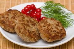 Fried cutlet Stock Images