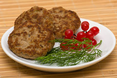 Fried cutlet Royalty Free Stock Image