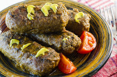 Fried cutlet fast food Royalty Free Stock Photography