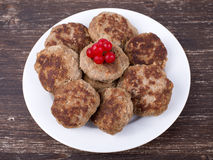 Fried cutlet with mashed potatoes Royalty Free Stock Photo