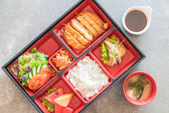 Fried cutlet pork bento set Royalty Free Stock Photography