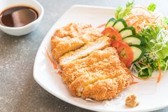 Fried cutlet pork with vegetable Stock Photos