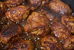 Fried cutlets. Fried cutlets of minced meat Royalty Free Stock Photo