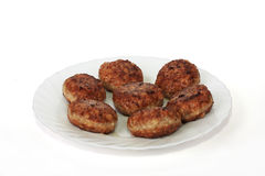 Fried cutlets. Cutlets fried, prepared from a mincemeat Stock Images