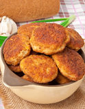 Fried cutlets Stock Photos