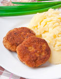 Fried cutlets in breadcrumbs Stock Photography