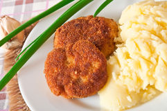 Fried cutlets in breadcrumbs Royalty Free Stock Photography