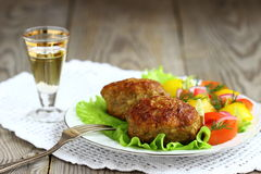 Fried cutlets Royalty Free Stock Photography