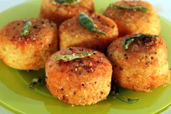 Fried Dhokla Royalty Free Stock Photo