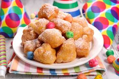 Fried donut. For carnival day Royalty Free Stock Image
