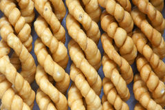 Fried dough twist Royalty Free Stock Photos