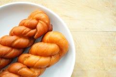 Fried dough twist Stock Photo