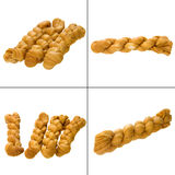 Fried dough twist Stock Images